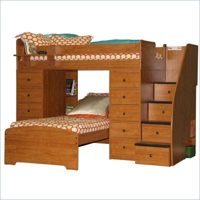Berg Furniture Sierra Space Saver Twin Over Twin Bunk Bed 22 807
