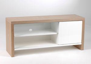 ce meuble tv laqu blanc des meubles amadeus est en vente au wwwlegrenierdejuliette - Meuble Bois Et Blanc Laque