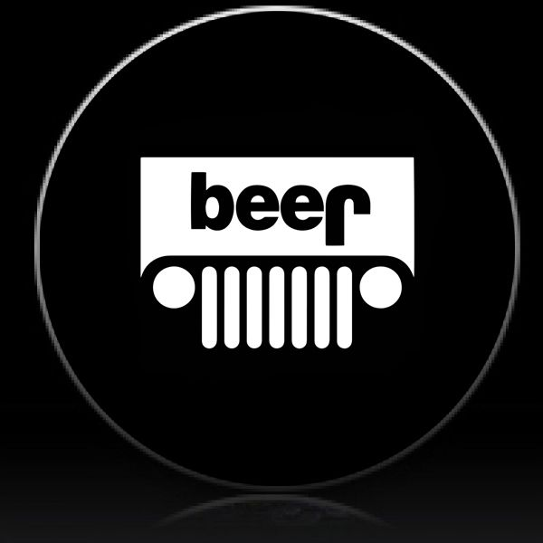 Jeep Beer Spare Tire Cover Lighting Logo Tire Cover Jeep