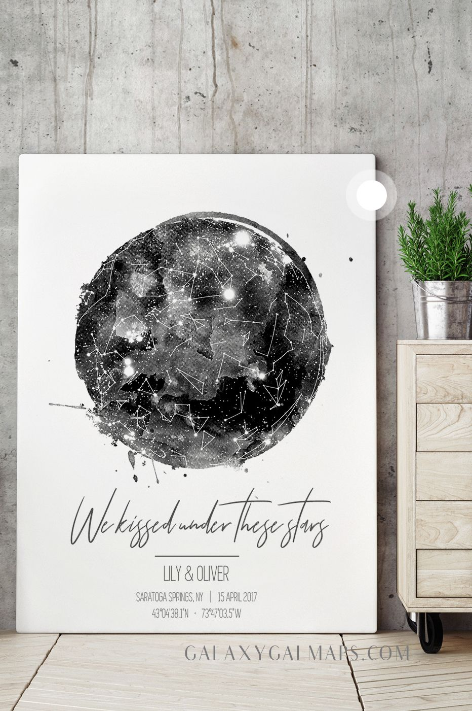 Personalized Star Map Constellation Map Wall Art Unique Wedding Guest Book Wedding Guestbook Constellation Wall Art Star Map Constellations Map Guest Book