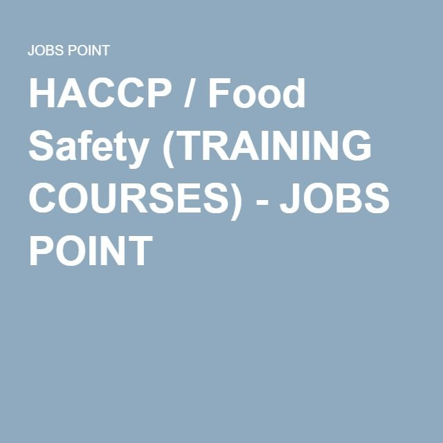 HACCP / Food Safety (TRAINING COURSES)