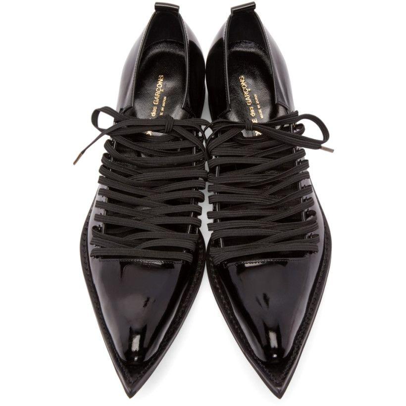 9fa3b8315662dd Comme des Garçons - Black Patent Leather Pointed Oxfords