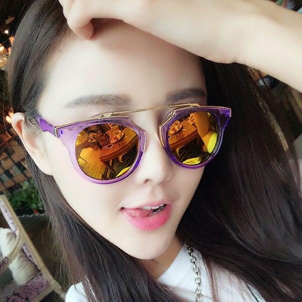 ec8d4feec9 stock metal paint bridge transparent frame sunglasses women sun glasses  wholesale china mn5005-1