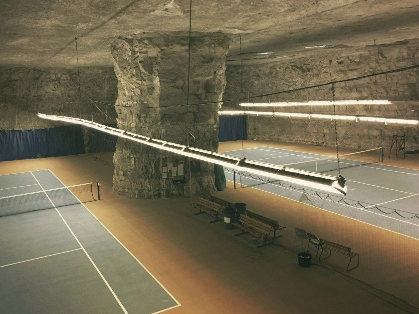 Underground Tennis Courts In A Limestone Mine And Refrigeration Complex In Missouri Architecture Exterior Design Leaving New York