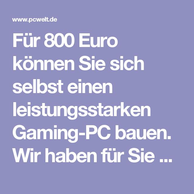Für 800 Euro können Sie sich selbst einen leistungsstarken Gaming-PC bauen. Wir haben für Sie Komponenten mit dem besten Preis-Leistungs-Verhältnis ausgewählt und zeigen Ihnen im Video (in Kürze) Schritt für Schritt, wie Sie diese einbauen. Doch das Beste: Nehmen Sie an unserem Gewinnspiel teil, können Sie unseren 800 Euro-PC 1x komplett von Team Hölle montiert und zusätzlich 1x das vollständige Komponenten-Paket gewinnen (siehe Tabelle am Ende des Beitrags). Hier geht's direkt zum…
