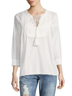 49d65c145ea THE KOOPLES Embroidered Pintuck Cotton Top. #thekooples #cloth #top ...