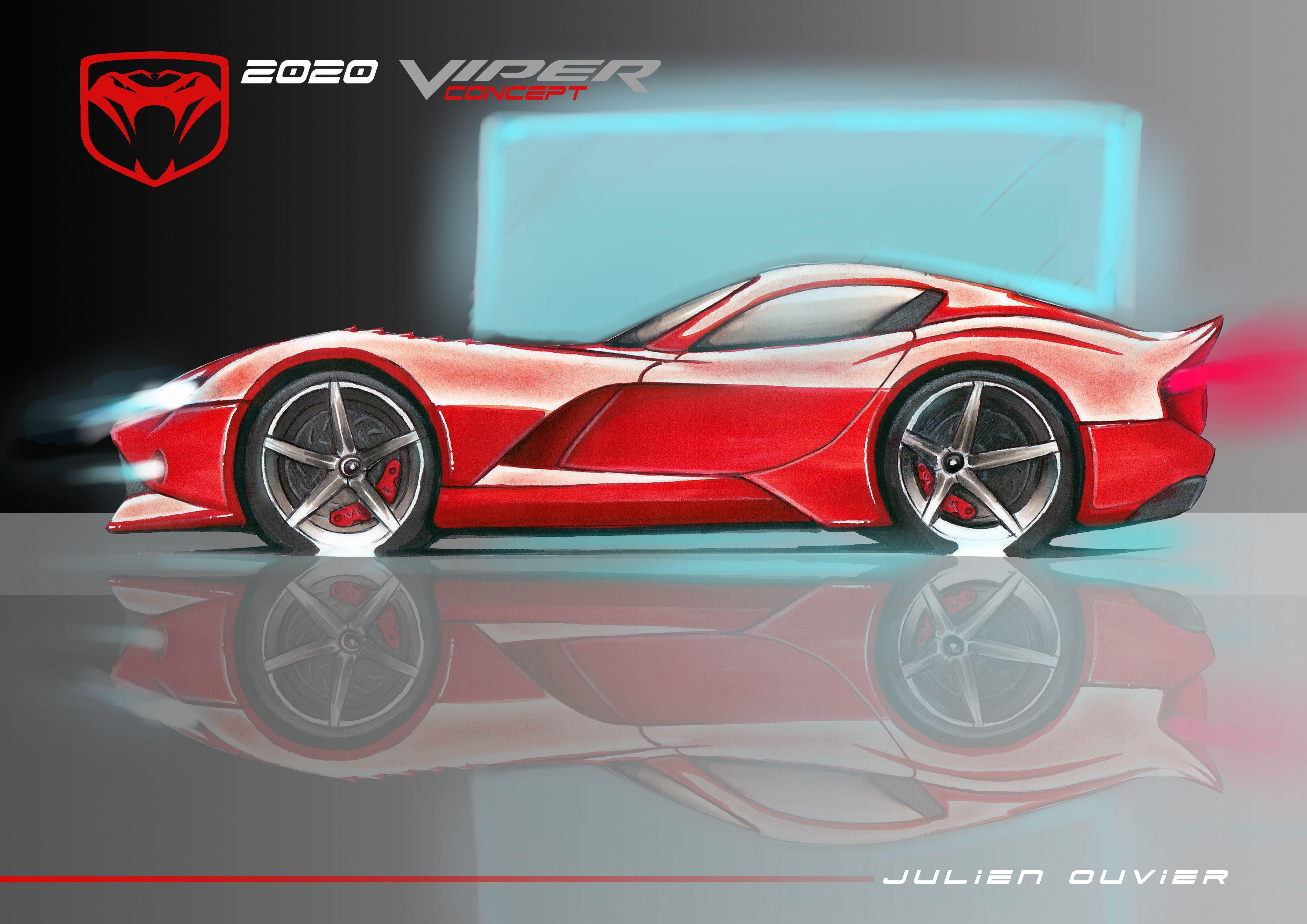2020 Viper Concept Sketch By Julien Ouvier Copyrights Julien Ouvier Dodge Viper Dodge Viper Gts Viper Acr