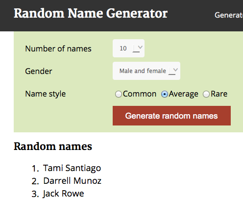 random name generator write pinterest generators random and