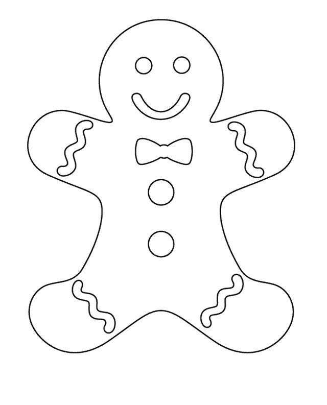 The Use Of Small Ribbon Gingerbread Coloring Pages | Early Childhood ...