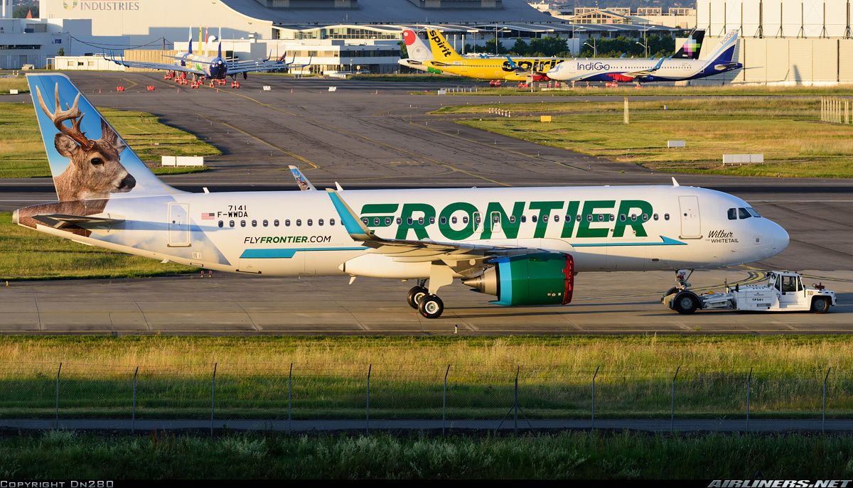 Frontier Airlines F Wwda N301fr Airbus A320 251n Aircraft