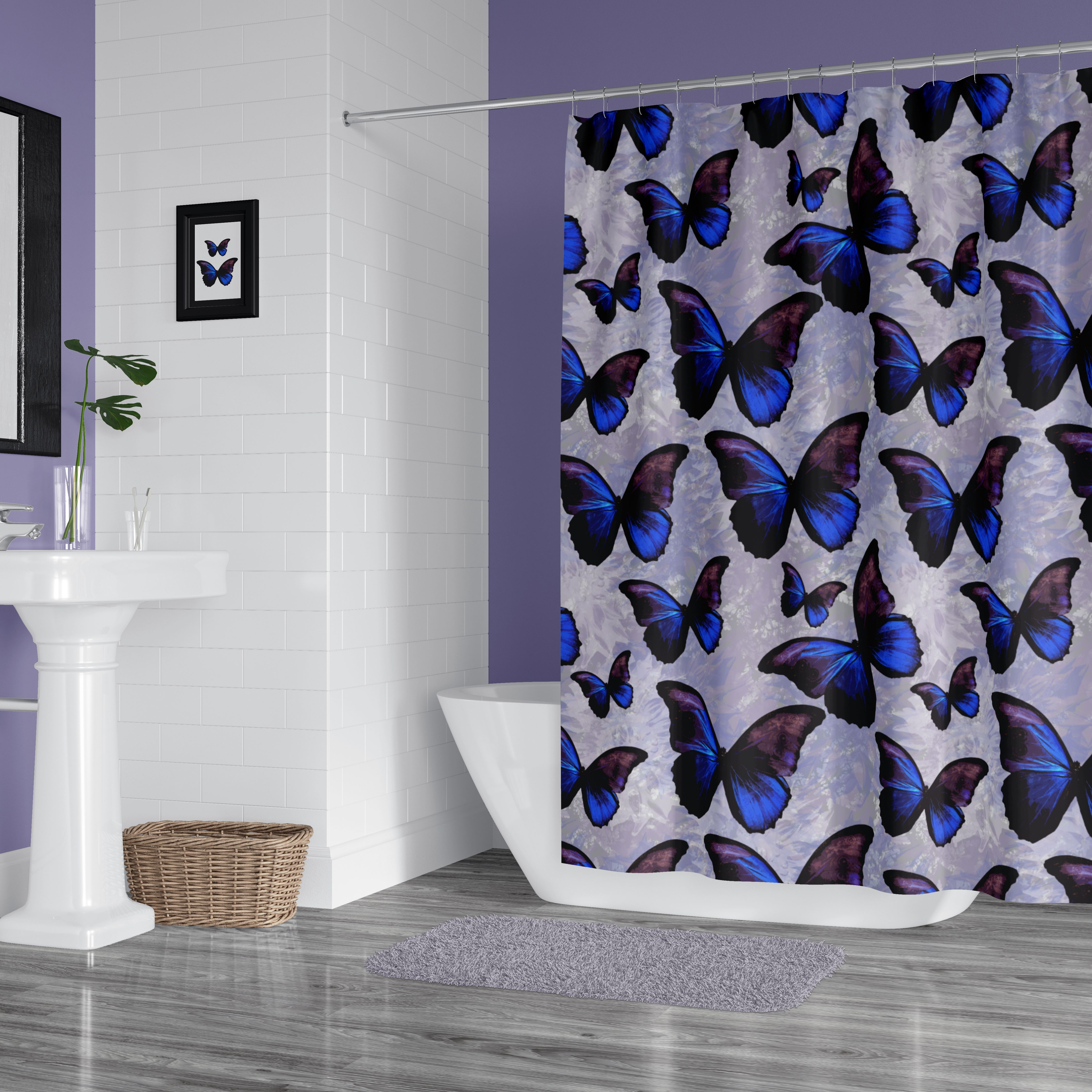 I Love Morpho Butterflies And How This Bathroom Is Designed To