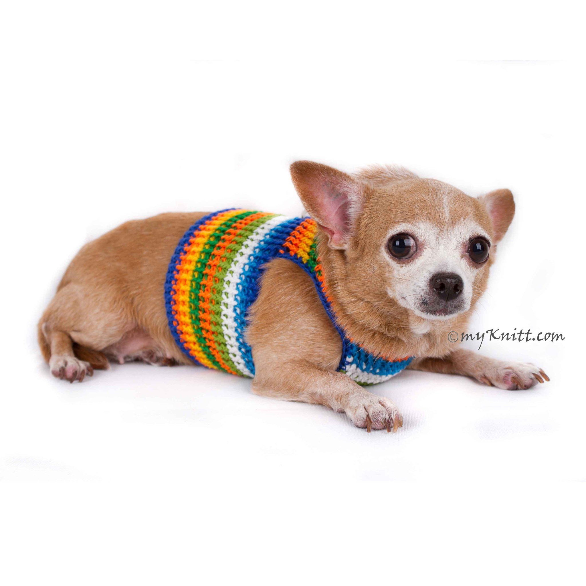 Male Dog Harness Vest Crocheted Chihuahua Clothes Dh77 Dog