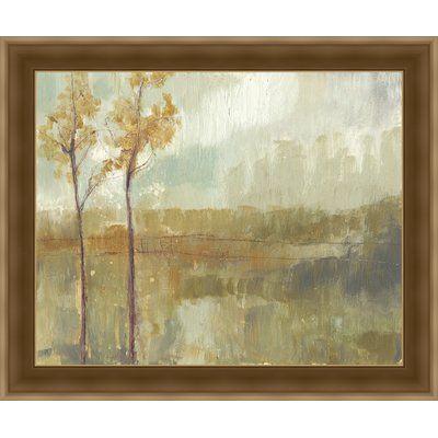 Ashton Wall Décor LLC In Bloom & Landscape 'Pastoral Ochre I' Framed Painting Print