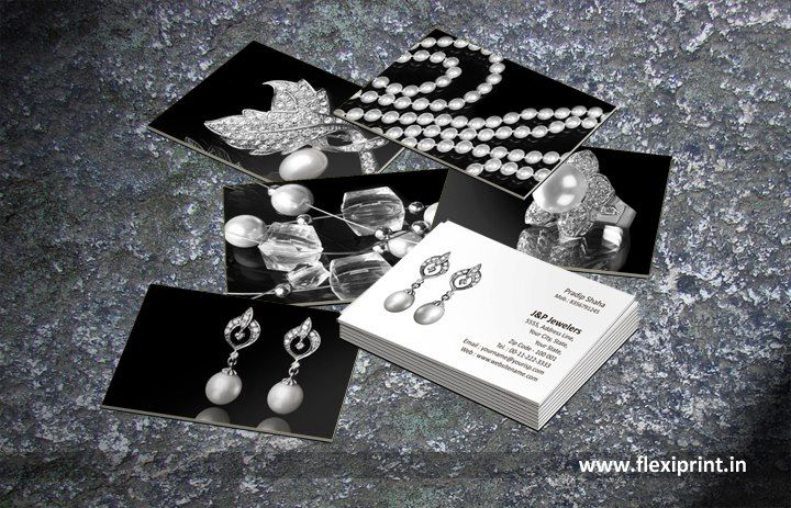 Flexi personalized business card for jewellery designer