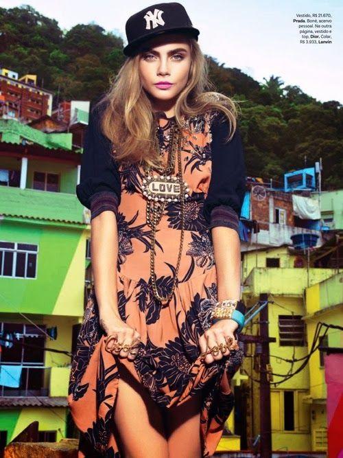 magazine-photoshoot : Cara Delevingnea HQ Pictures Vogue Brazil Magzine Photoshoot February 2014