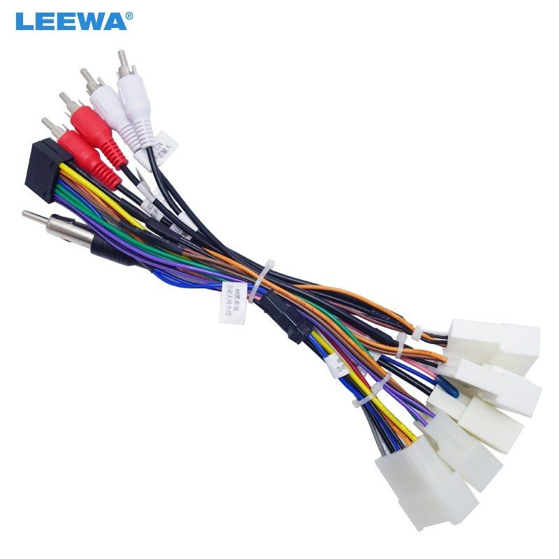 LEEWA 16P Car Head Unit Wire Harness Adapter For Toyota