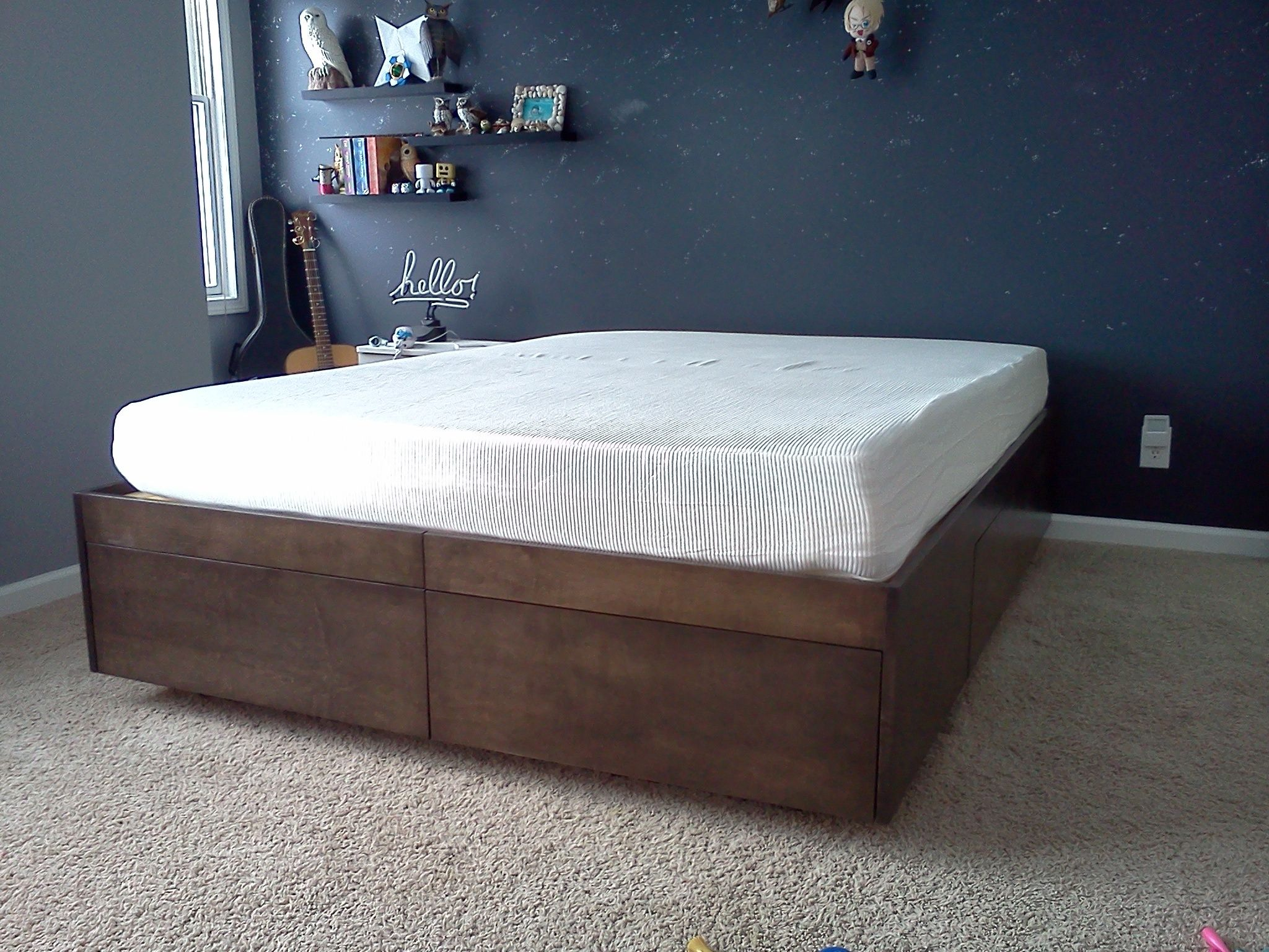 Platform Bed With Drawers Bed frame with drawers