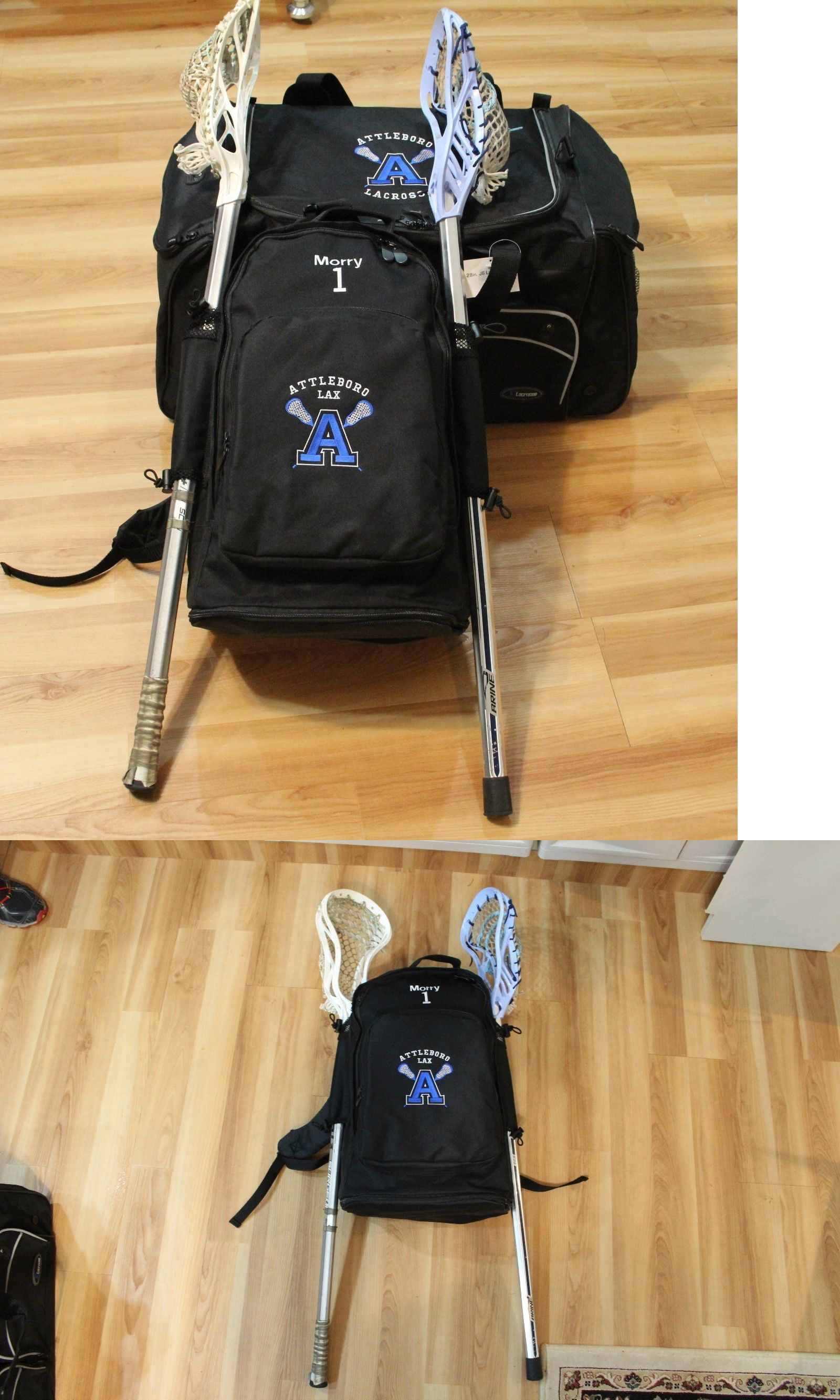 Clothing 159152: Personalized For Free Lax Backpack Deluxe Bag Has Two  Lacrosse Stick Holders Buy · Lacrosse Sticksphoto Charmspandora