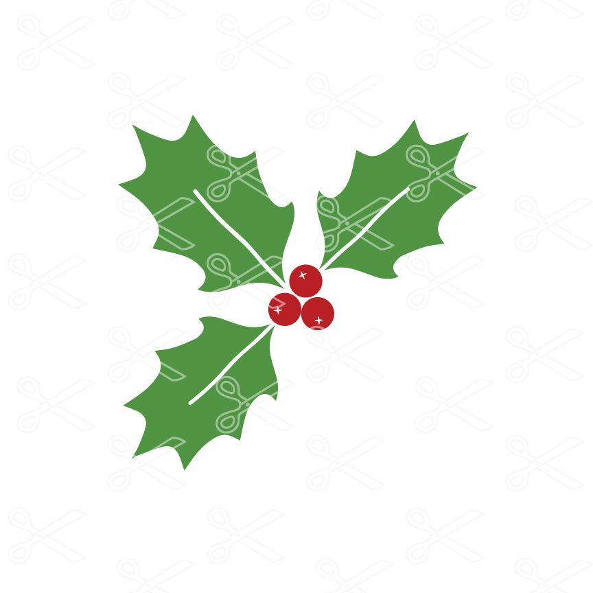 Christmas Holly Silhouette.Christmas Svg Free Christmas Holly Svg File Cute Clipart