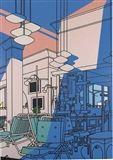 Patrick Caulfield - Sun Lounge, 1975, acrylic on...
