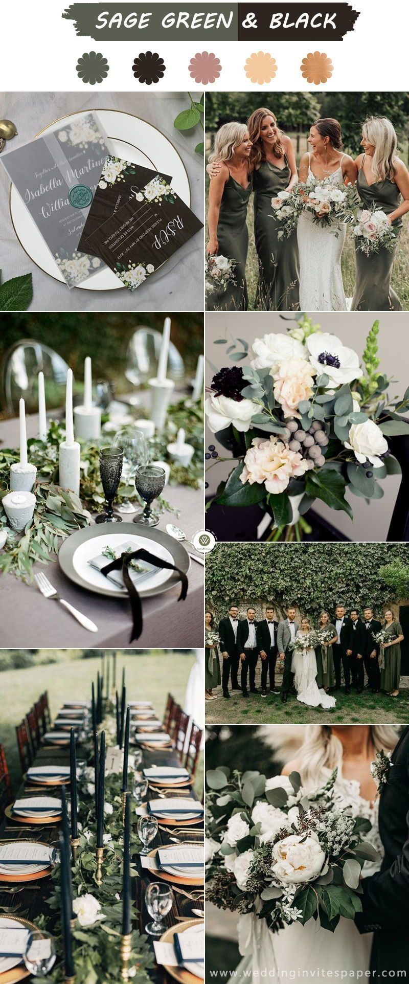 Sage Green Weddings Top 6 Color Palettes For A Memorable Winter