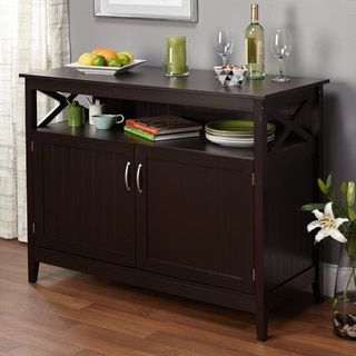 Dining Room Furniture Buffet domusindo solid pine industrial wood sideboard (buffet), brown
