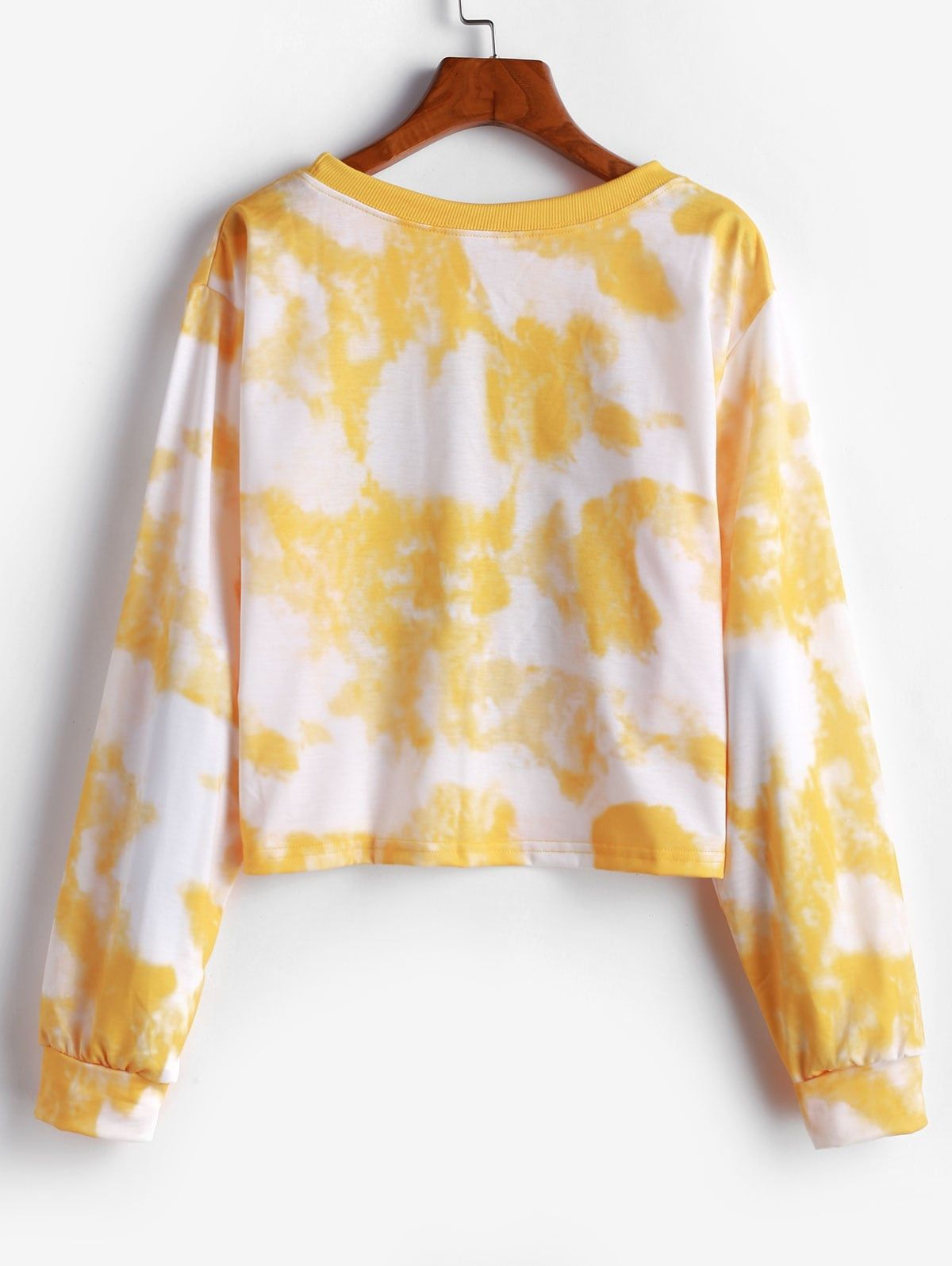 Pullover Floral Sun Tie Dye Sweatshirt YELLOW , Affiliate