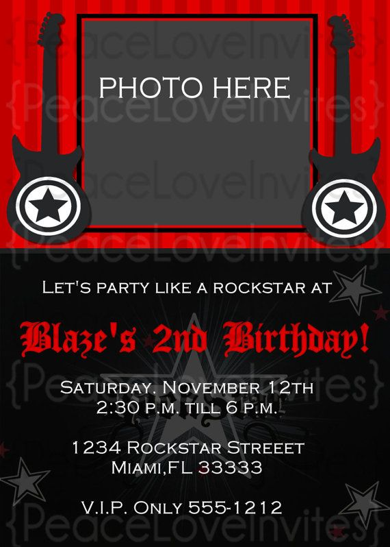 Rock N Roll Party Invitation