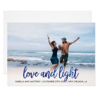 #beauty - #Hip Starlit Blue Love And Light Marriage Pic Card