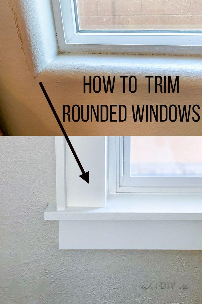 How To Trim A Window With Bullnose Corners Tutorial Anika S Diy Life In 2020 Diy Window Trim Interior Windows Window Trim
