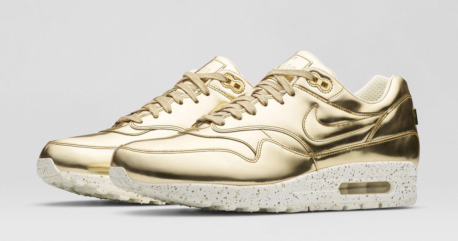 Nike Air Max 1 Liquid Gold Silver   Sole Collector