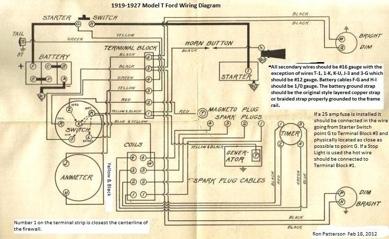 Model T Ford Forum Wireing Question On Instrament Panal Model T Ford Ford Trucks