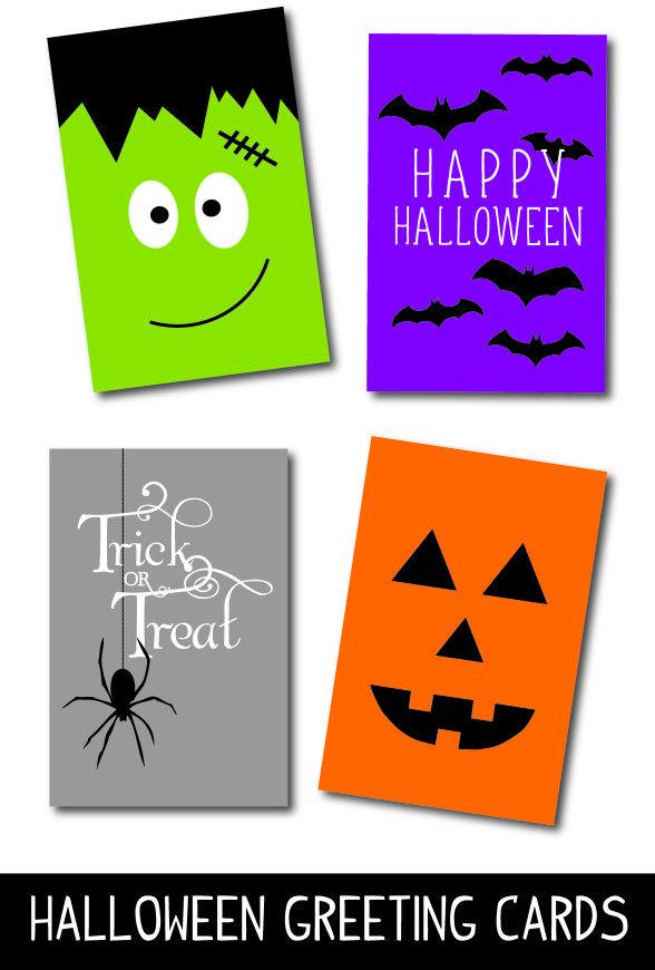 free printable Halloween cards | Smart DIY | Pinterest | Halloween ...