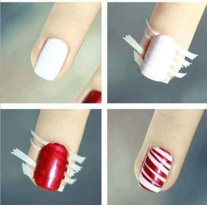 Cute Have To Show My 13 Year Old This One Easy Candy Cane Nails Christmas Nails Diy Holiday Nails Easy