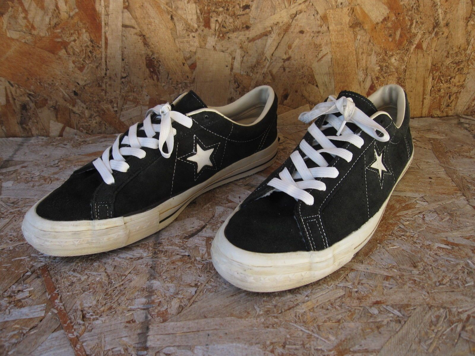 53c2af4b50eb Vtg Men s Converse One Star Low Made in USA Shoes Sz 9.5 Black Suede ...