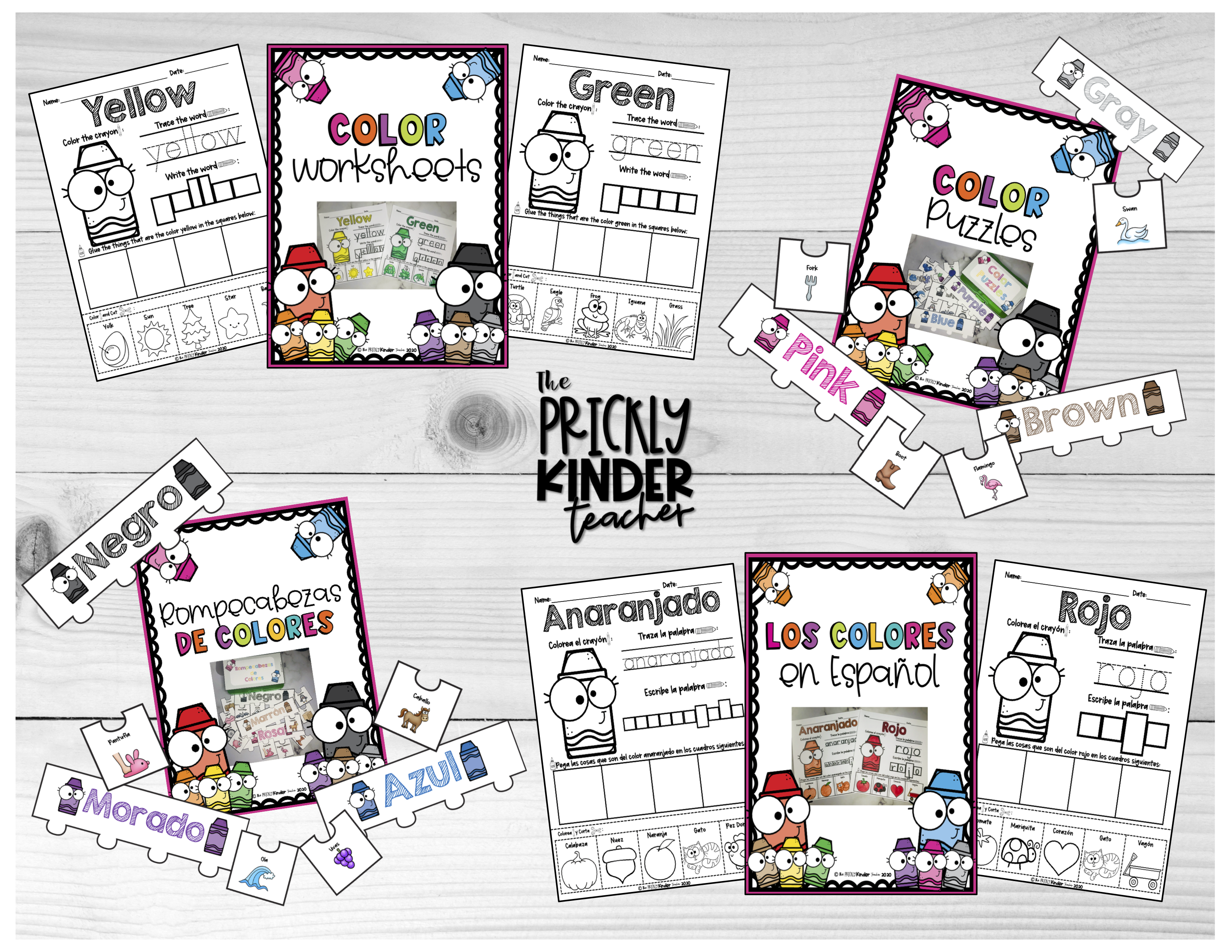 Color Learning Pack In English And Spanish In