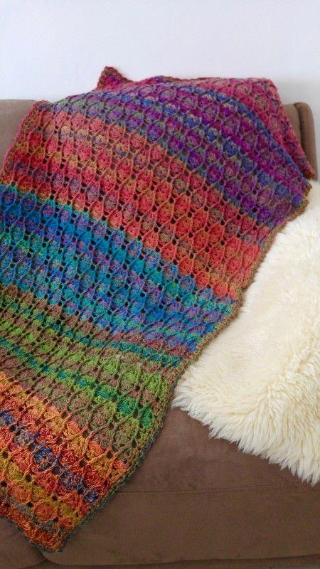 FREE Crochet Pattern : Baby blanket full of colours | Häkeln | Pinterest