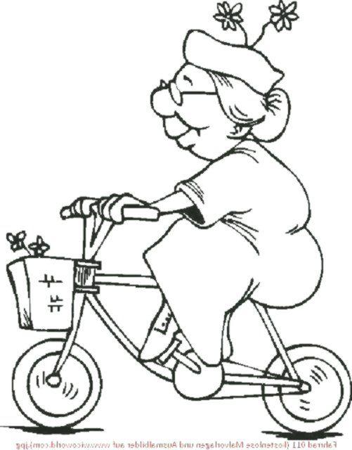 malvorlage oma fährt fahrrad malvorlagen  malvorlagen