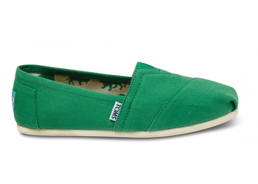 Classics - Green Apple Canvas Women's Classics | TOMS.com It's like they  have encompassed me all in one shoe.