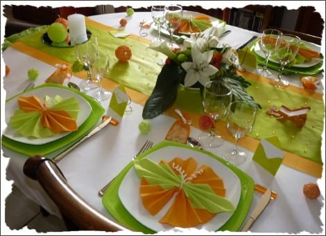 déco de table orange et vert | idées à garder | Pinterest | Searching