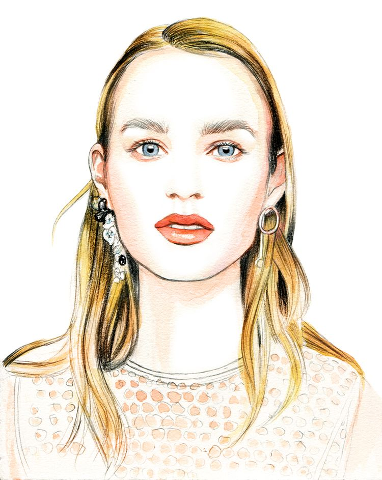 Dior Resort 2016 Beauty Fashion illustration, Fashion
