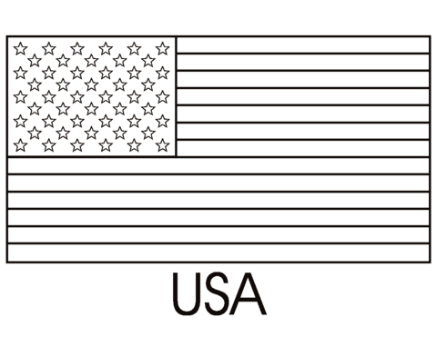 Flag Of The United States Of America Coloring Page Flag Coloring Pages American Flag Coloring Page Flag Printable