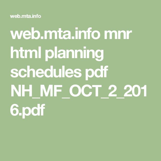 web mta info mnr html planning schedules pdf