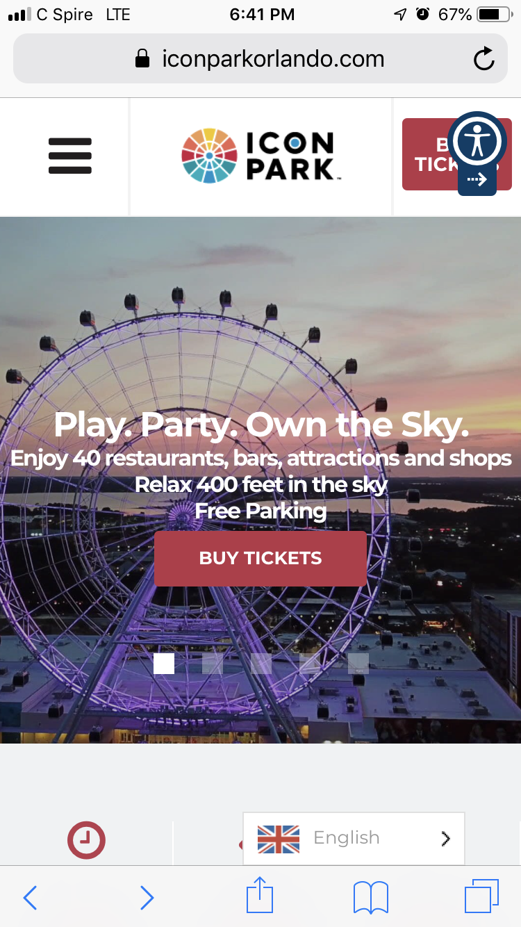 Orlando Eye Icon parking, Orlando eye, Buy tickets