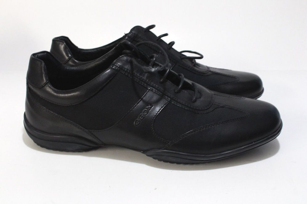06924074b39 GEOX Respira Black Leather Casual Lace Up Men s 43.5 US Shoe Size 10.5D   Geox  FashionSneakers