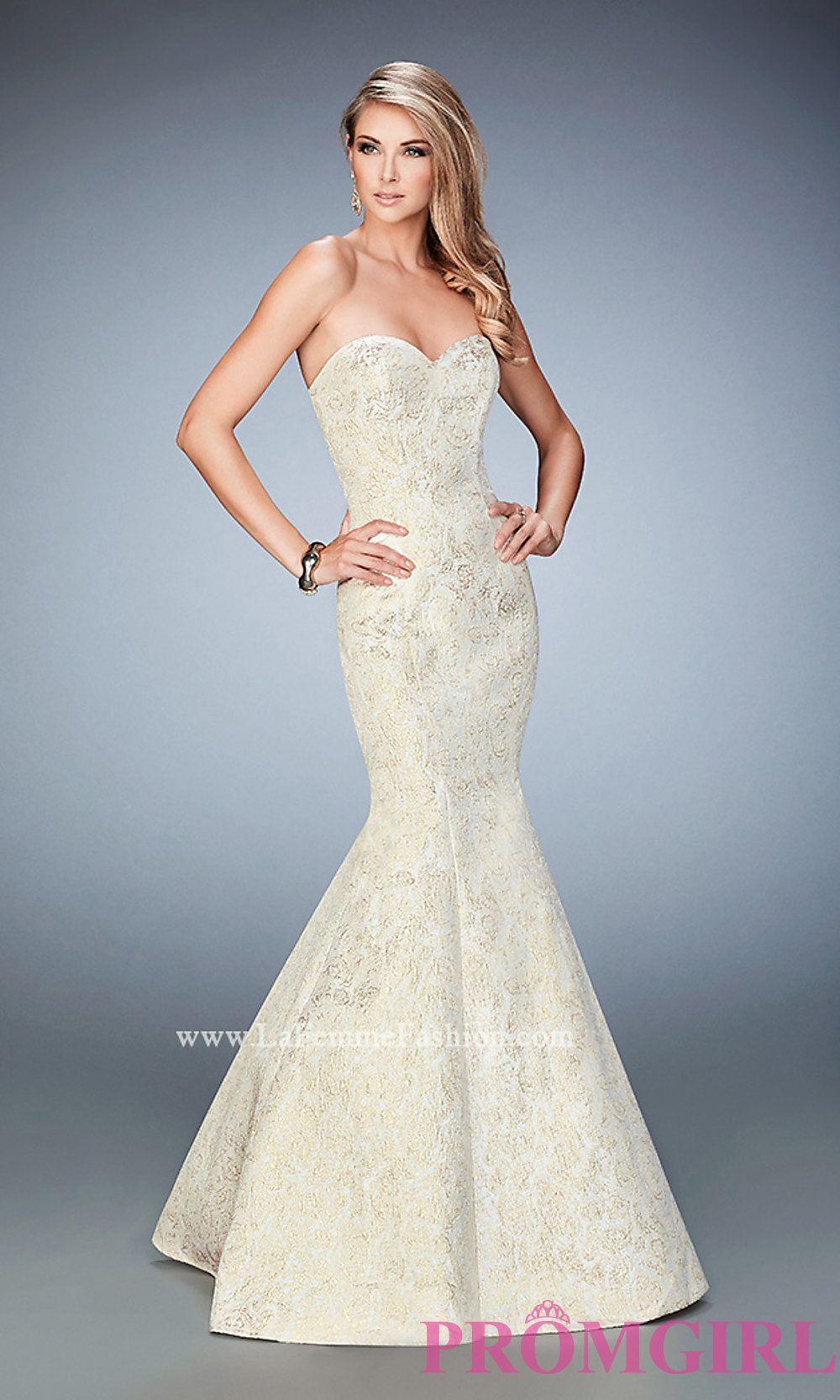 08094292206 Strapless Mermaid Style Long Prom Dress by La Femme Style  LF-22570 ...