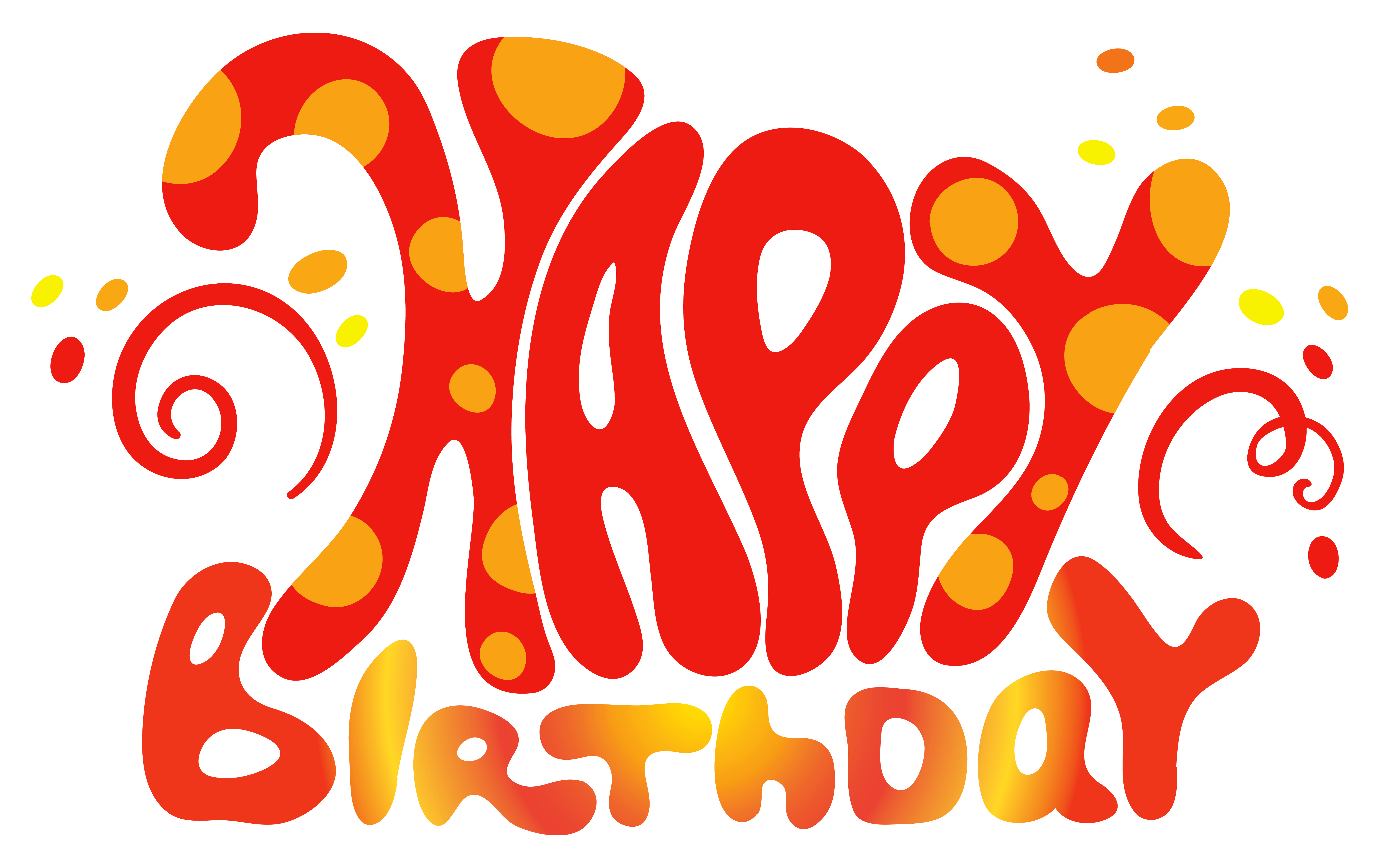 Happy Birthday Typography Png ~ Red cute happy birthday text png clipart pinterest