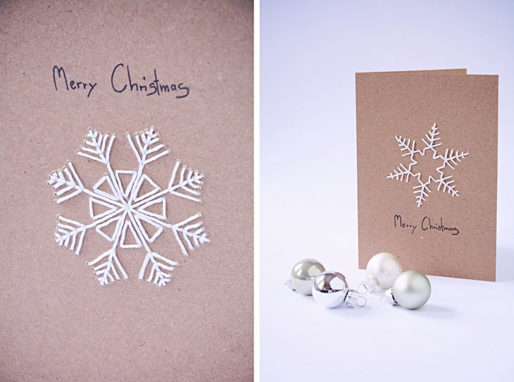 diy snowflake christmas cards rotkehlchen. Black Bedroom Furniture Sets. Home Design Ideas