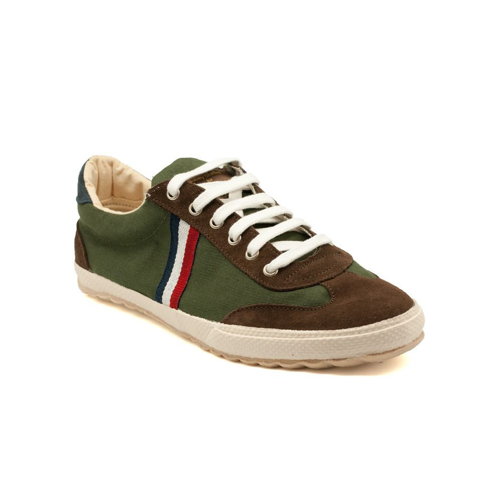 sports shoes f6a03 6d16b Zapatilla Match Canvas Verde Cinta de El Ganso