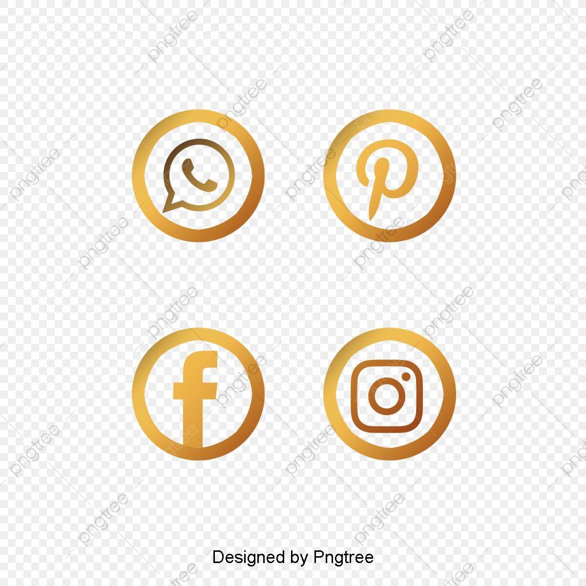 Iconos Sociales De Pincel De Oro Vector Png Oro Icono Dorado Png Y Psd Para Descargar Gratis Pngtree Social Icons Social Media Icons Funny Art